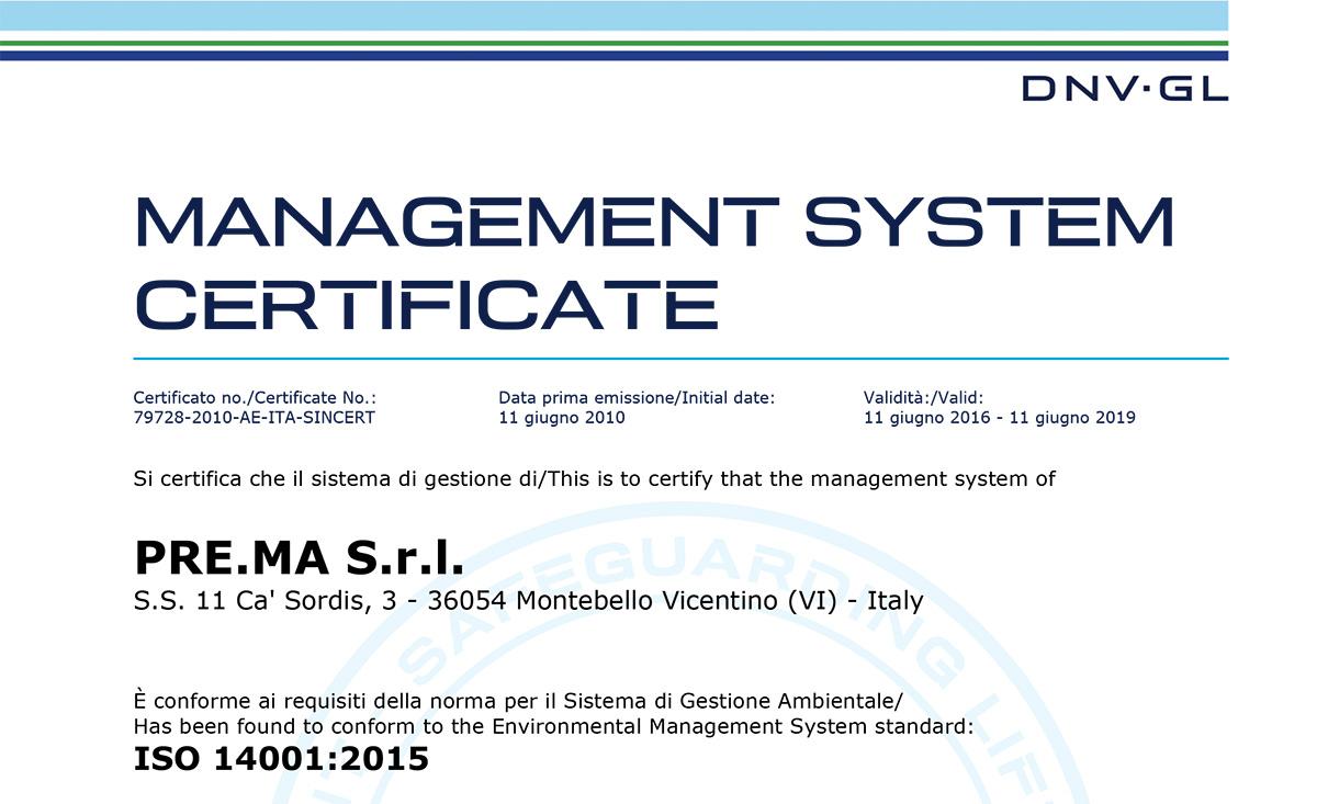 Certificazioni Prema Srl